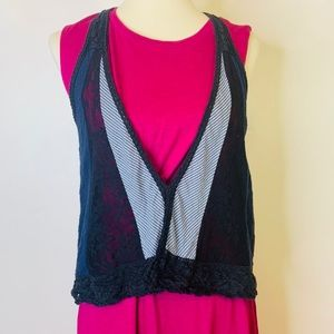 Free People Boho Patchwork Vest Size Medium